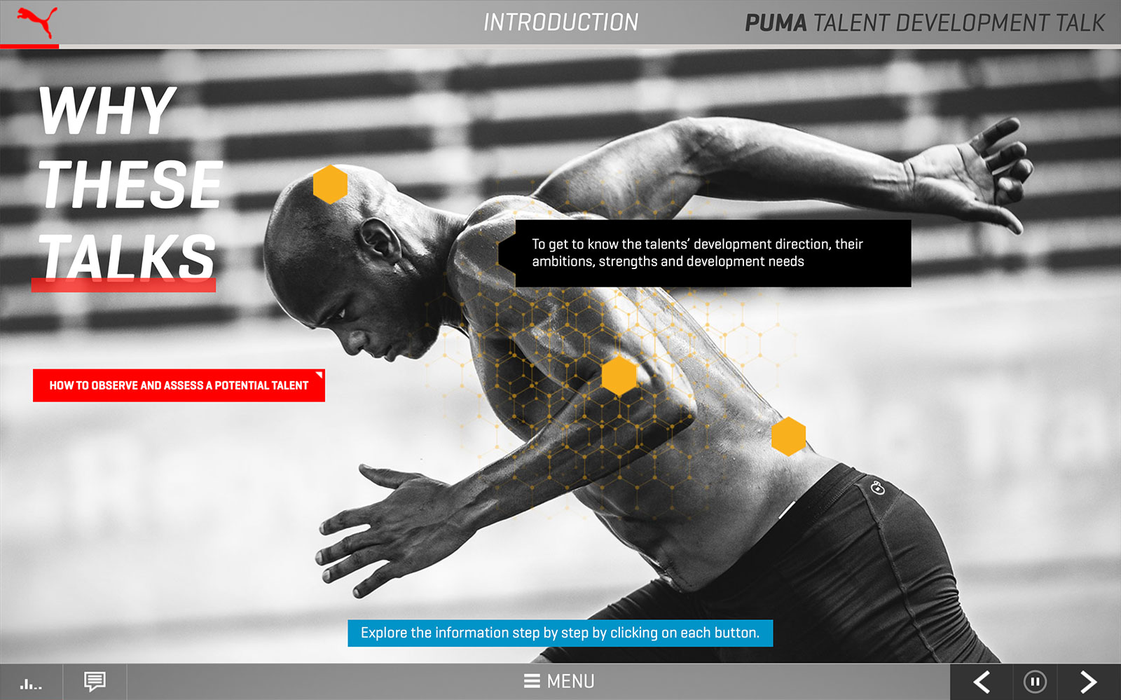 Screenshot PUMA Talent Development Talk 'Why these talks'