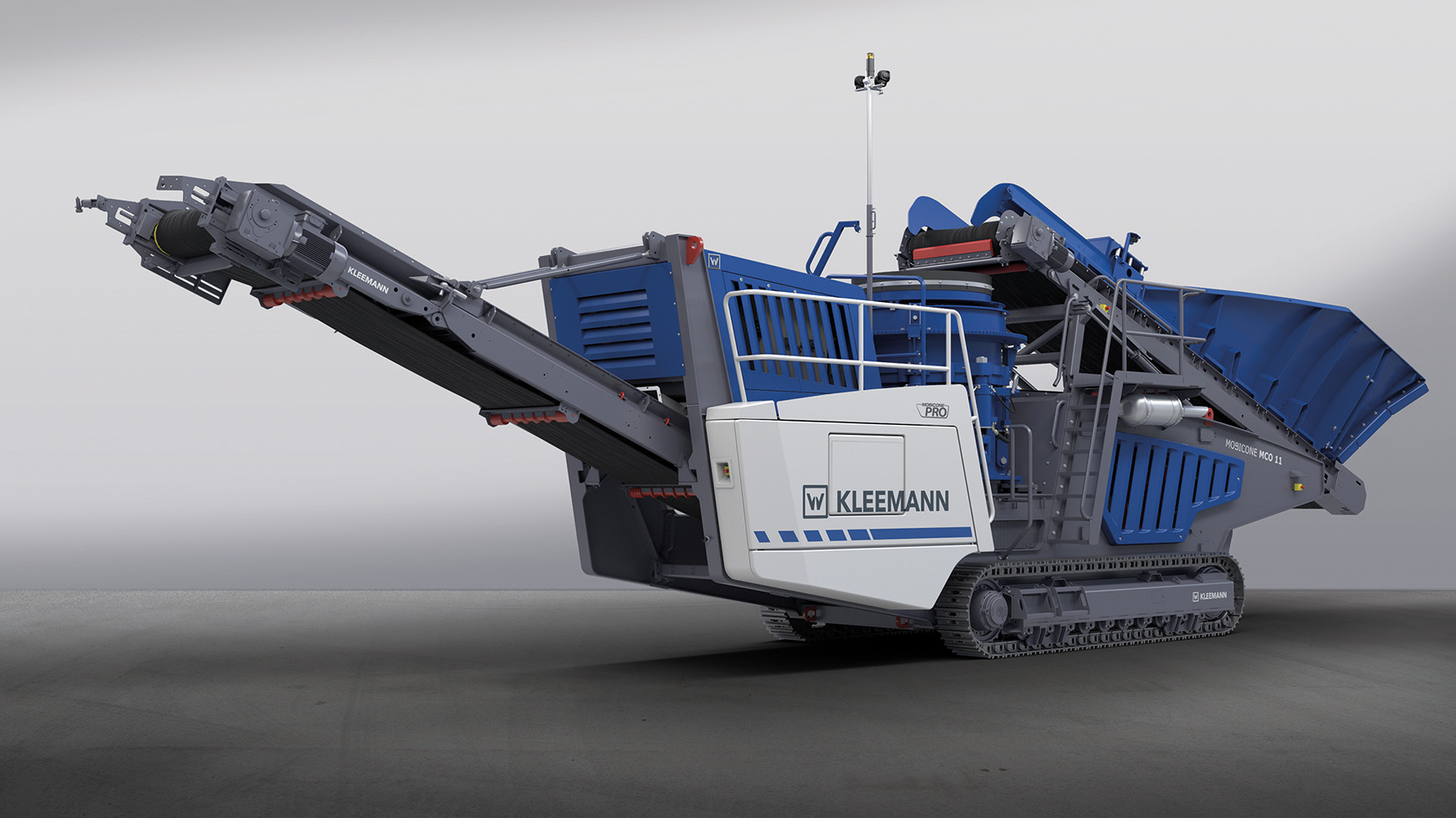 Cone crusher from KLEEMANN (Mobicone MCO 111 PRO)